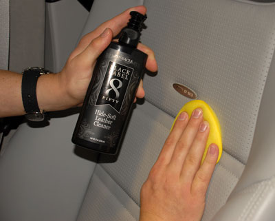Black Label Hide-Soft Leather Cleaner is pH balanced