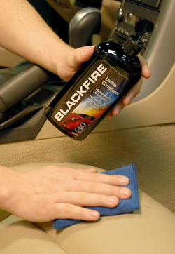 Blackfire Leather Conditioner preserves leather seats.