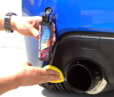 BLACKFIRE Total Trim & Tire Sealant restores, protects, and renews all color plastic exterior trim