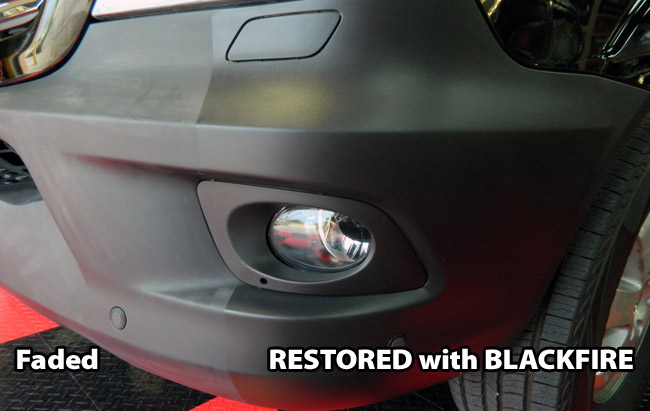 BLACKFIRE Total Trim & Tire Sealant restores dull, faded exterior trim to like-new condition
