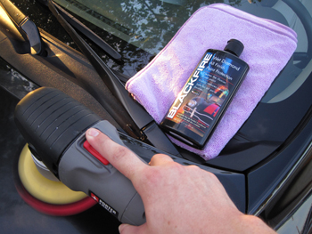 Blackfire Wet Diamond All Finish Paint Protection can be applied with a dual action polisher.