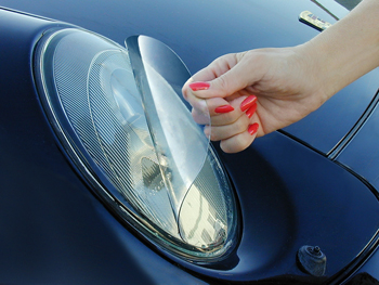 XPEL Headlight film protects headlight and taillight lenses.