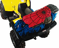 The Spidy Gear cargo net keeps your gear in place on your motorcycle or ATV.