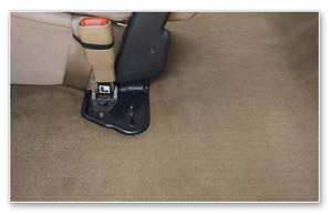 After using the Durrmaid Mini Hot Water Extractor, the carpet looks cleaner and the true color is retored.