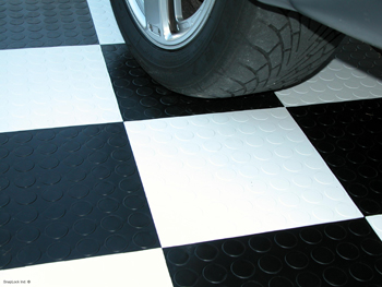 Racedeck CircleTrac coin pattern floor tiles