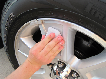 Use detailing clay on clear coated wheels to remove embedded brake dust.
