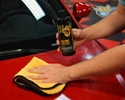 Wipe off residue with a soft microfiber towel