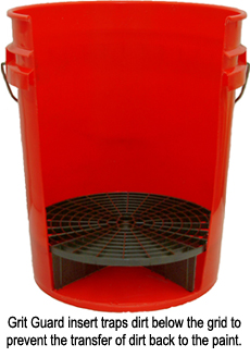 The Grit Guard Inserts trap dirt at the bottom of the buckets to prevent the transfer of dirt back to the vehicle.