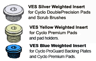 The Cyclo 5-Pro includes all 3 weighted inserts.