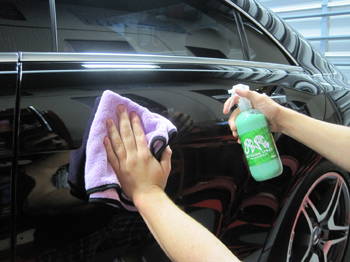 Use Dodo Juice Basics of Bling Detailing Spray to add shine and protection to paint, glass, and metals.