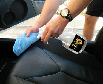 DP Hi-Intensity APC Plus is safe to use on coated leather
