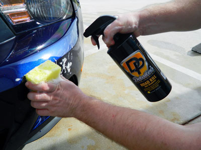 DP Road Kill Bug Srubber makes it easy to remove bugs and tar!