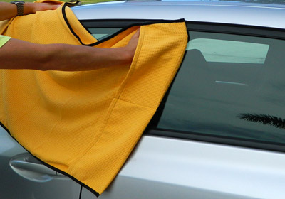 Griot's Garage Drying Towels use a waffle weave for extra absorbancy