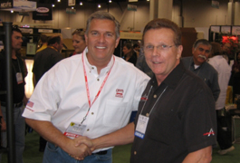 Richard Griot and Max at SEMA 2008.