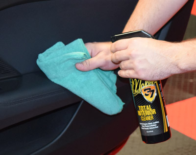 Total Interior Cleaner is safe for all interior surfaces