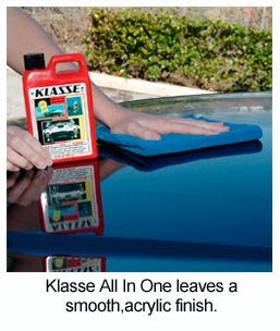 Klasse All In One buffs out beautifully with a Microfiber Towel.