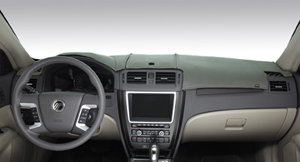 The Limited Edition DashMat dashboard cover is available with a logo and monogramming.