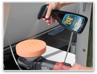 Marine 31 Spray Polishing Pad Conditioner creates a smoother buffing experience by providing additional lubricantion for your compound or polish