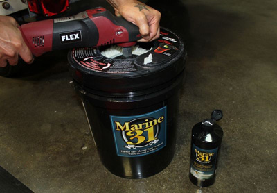 Marine 31 Universal Pad Washer works with all buffers and polishers!