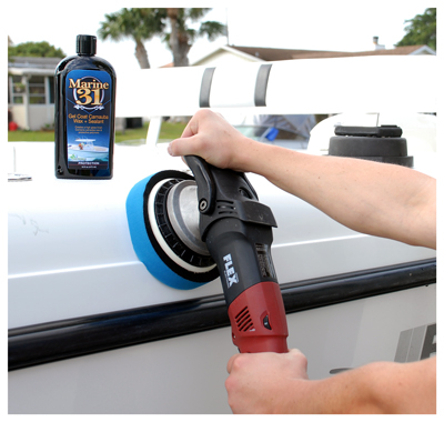 Marine 31 Gel Coat Carnauba Wax + Sealant creates a slick, high-gloss finish that lasts!