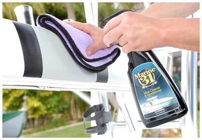 Marine 31 Vinyl Cleaner & Conditioner cleans and protects in one simple step!