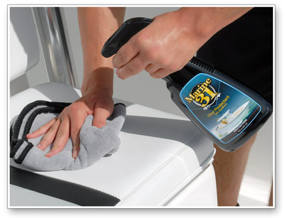 Marine 31 Vinyl Protectant with SunBlock provides the best UV protection availlable in a marine vinyl protectant