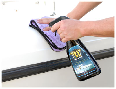 Marine 31 Stern to Bow Waterless Wash with Carnauba shines as it cleans - without water