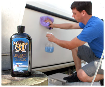 Marine 31 Stern to Bow Waterless Wash Concentrate with Carnauba is highly concentrated!