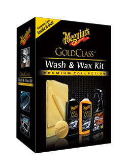 The Meguiars Gold Class Wash & Wax Kit comes in a box. It makes a great gift!