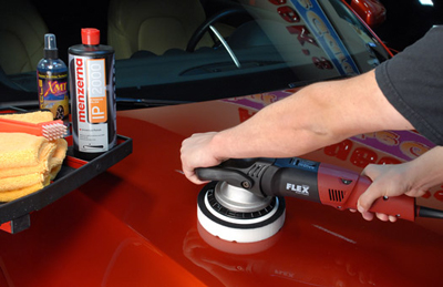 Menzerna PO 91E Intensive Polish removes swirls and water spots without hazing the finish.