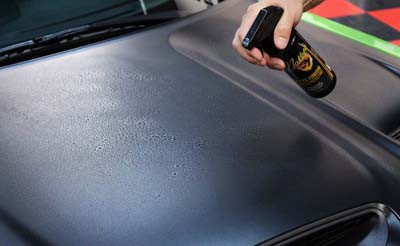McKee's 37 Matte Finish Cleaner & Protectant removes dirt and water spots from matte finishes