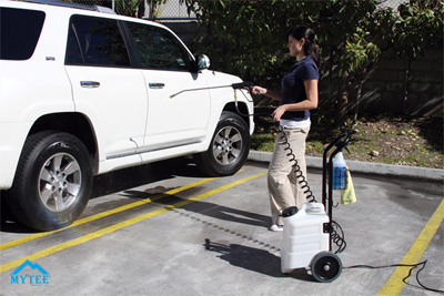 Clean your vehicle virtually anywhere with the Mytee Electric Boss Solution Sprayer!