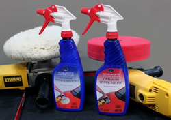 Optimum Hyper Compound and Hyper Polish with Optimum buffing pads.