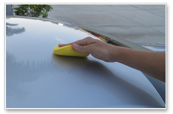 Wipe on Opti-Coat in thin, even strokes.