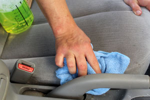 Dry the surface using a soft microfiber towel