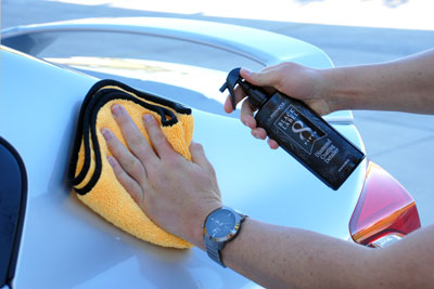 Black Label Diamond Coating Detailer removes light dust while amping up the shine of your coated vehicle!