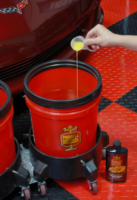 Pinnacle Liquid Gloss Rinseless Wash with Carnauba is highly concentrated