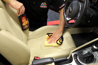 Pinnacle Leather Cleaner & Conditioner penetrates deep into the leather