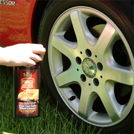 Pinnacle Clear Coat Wheel Cleaner is safe on all wheels.