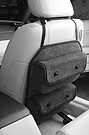 Universal Seatback-Mount PocketPods provide extra storage in the passenger cabin.