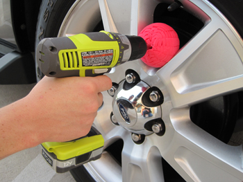Polish alloy wheels with a non-abrasive polishing tool.