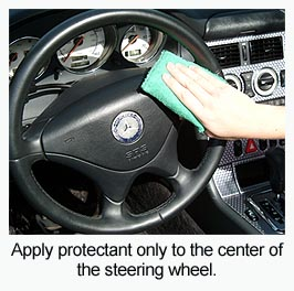 Apply Pinnacle Vinyl & Rubber Protectant with a Cobra Microfiber Applicator Pad.