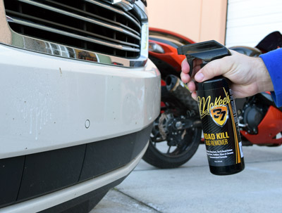 McKee's 37 Road Kill Bug Remover safely removes pesky bug guts
