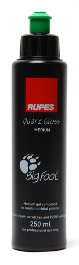 Rupes Quarz Gloss is the second step in the Big Foot Polishing System