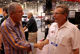 Bob McKee and Barry Meguiar meeting at SEMA 2009!