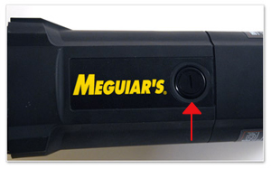 Meguiars G110v2 random  orbital polisher has a side port for easy brush changes.