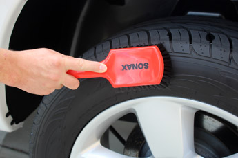 SONAX Intensive Cleaning Brush works great on tires