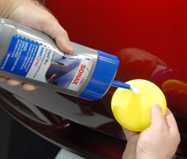 Sonax NanoTechnology Liquid Wax can be applied by hand or with a polisher.