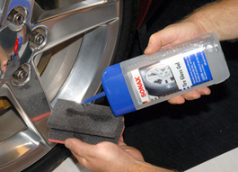 Use a foam tire applicator to apply Sonax Tire Gloss Gel.