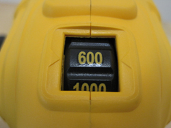 DeWalt DWP849 Polisher's speed dial starts at 600 RPM.